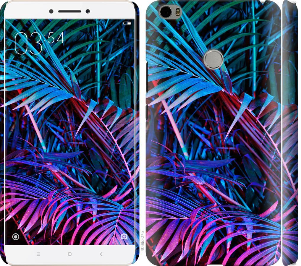 Чехол на Xiaomi Mi Max Папоротник под ультрафиолетом