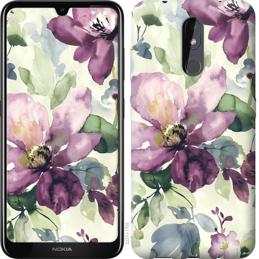 Чехол на Nokia 3.2 Цветы акварелью