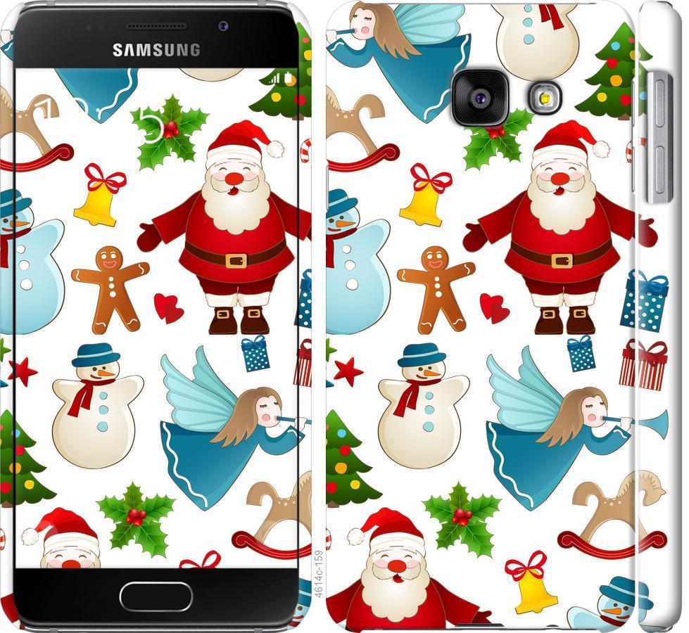 Чехол на Samsung Galaxy A3 (2016) A310F Новогодний 1
