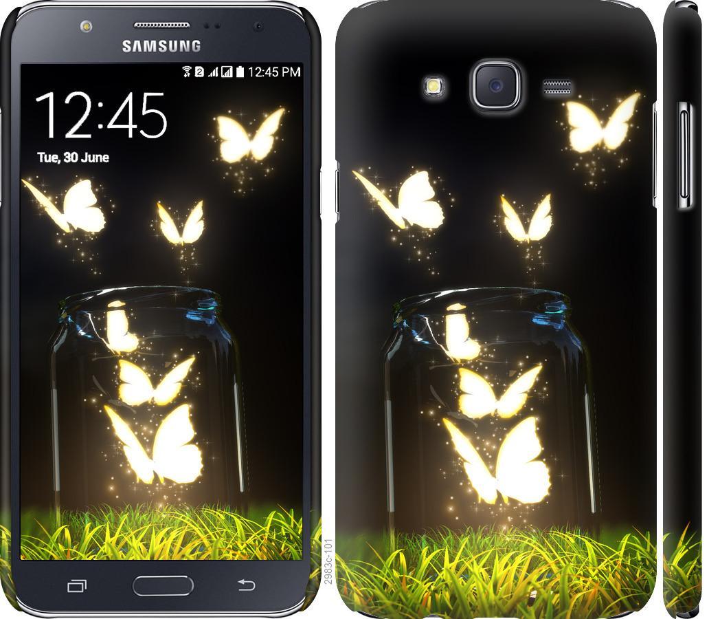 Чехол на Samsung Galaxy J7 J700H Бабочки