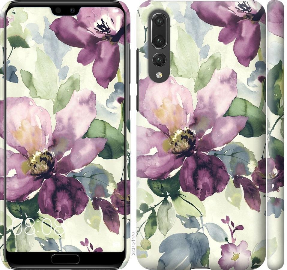 Чехол на Huawei P20 Pro Цветы акварелью
