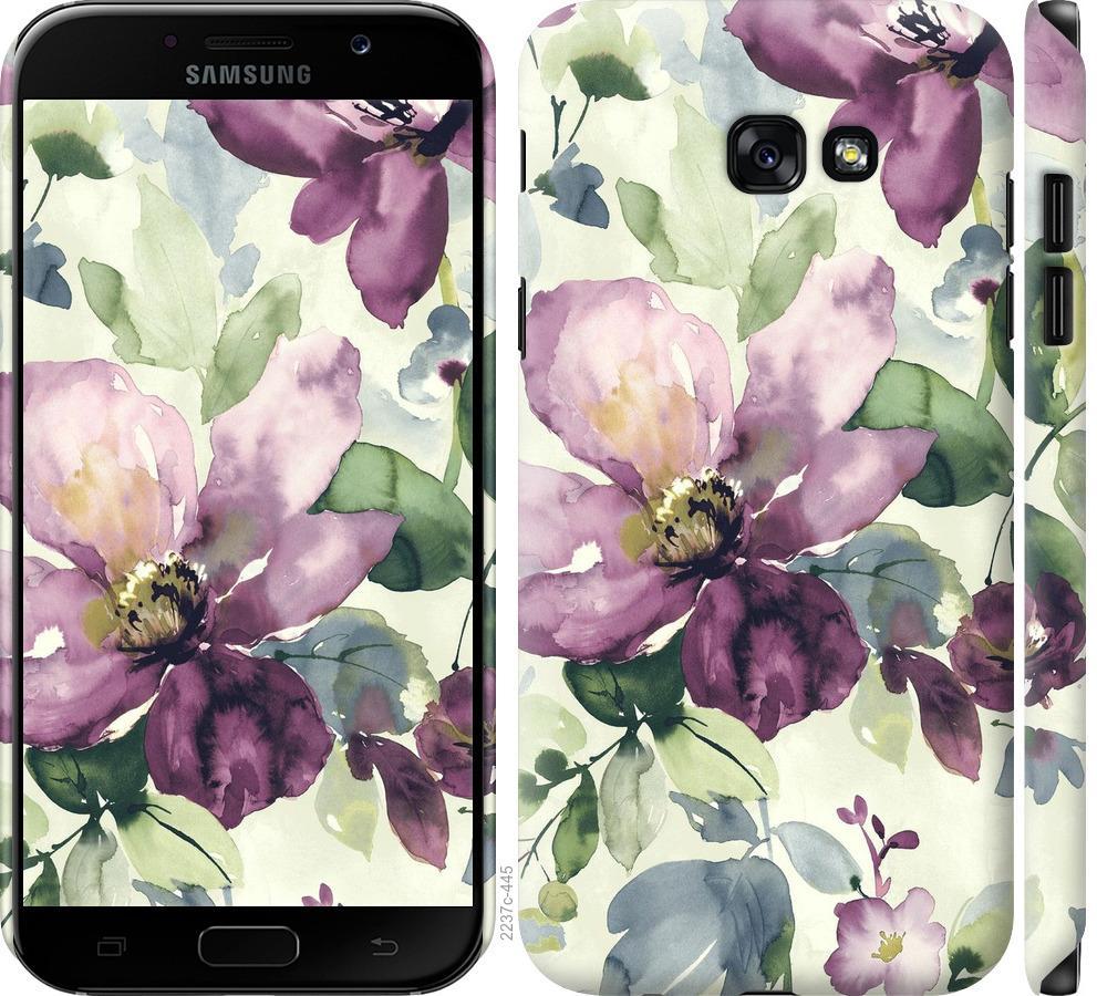Чехол на Samsung Galaxy A7 (2017) Цветы акварелью