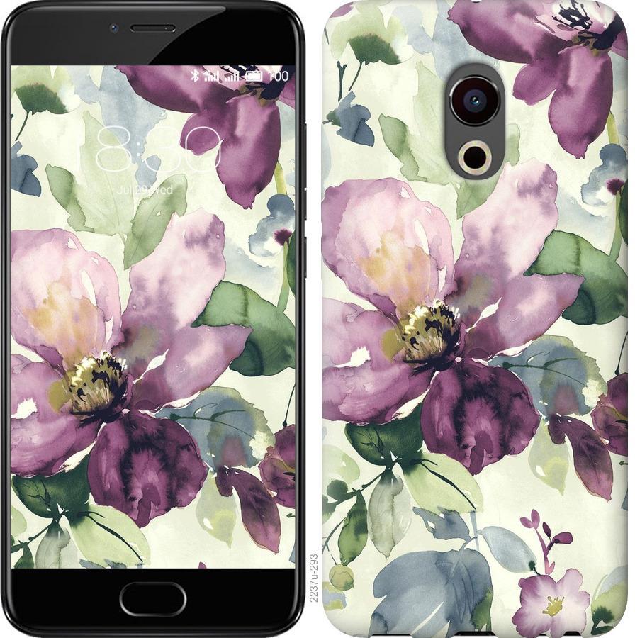 Чехол на Meizu Pro 6 Цветы акварелью