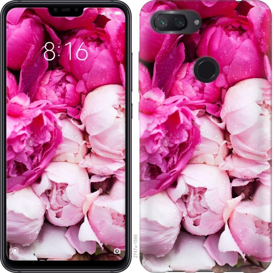 Чехол на Xiaomi Mi 8 Lite Розовые пионы