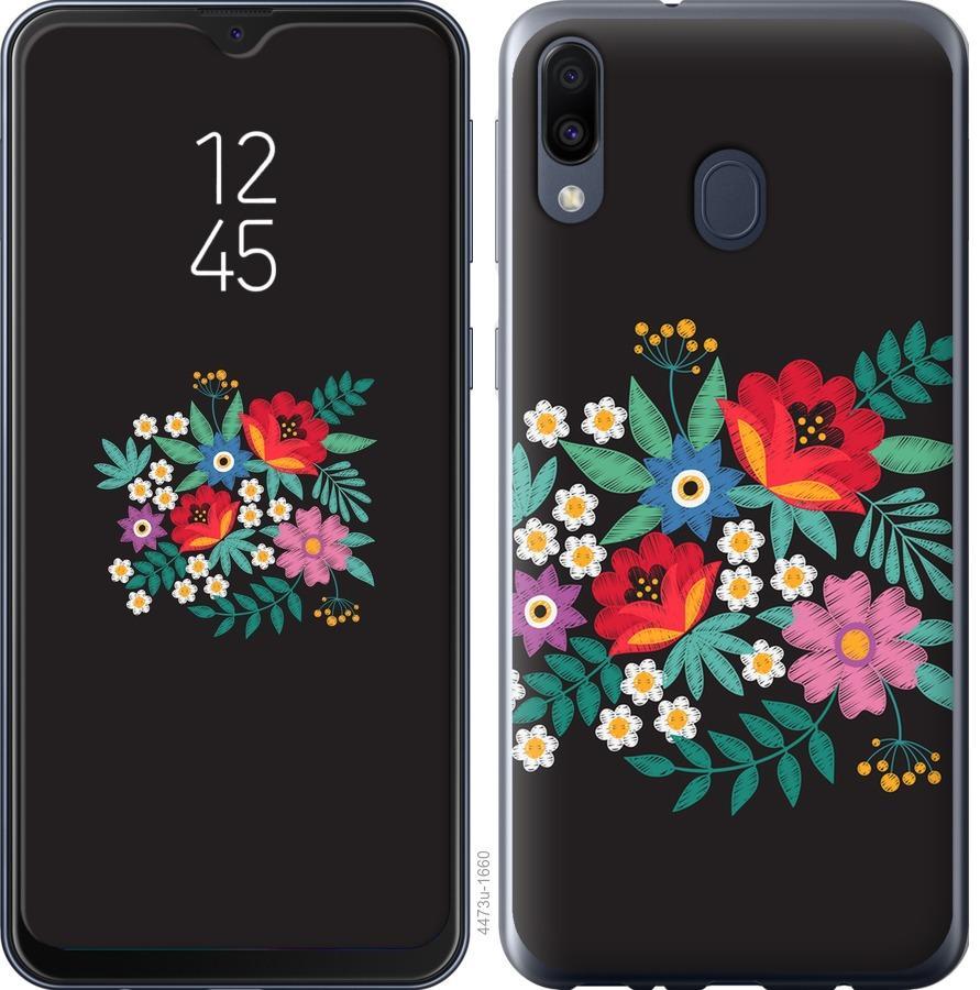 Чехол на Samsung Galaxy M30 Вышитые цветы