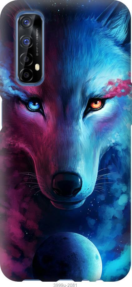 Чехол на Realme 7 Арт-волк