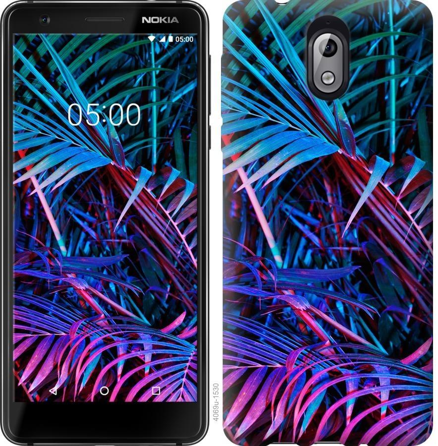 Чехол на Nokia 3.1 Папоротник под ультрафиолетом