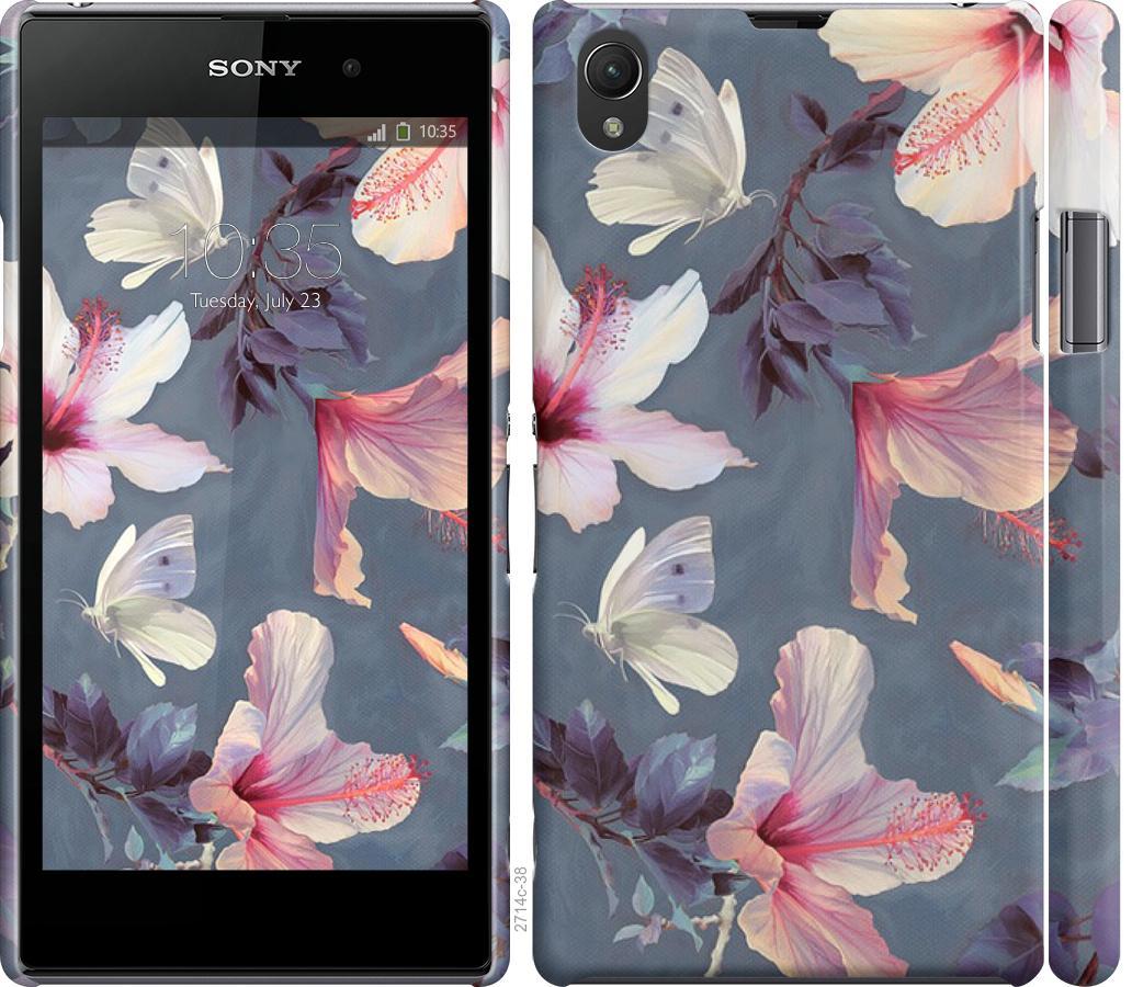 Чехол на Sony Xperia Z1 C6902 Нарисованные цветы