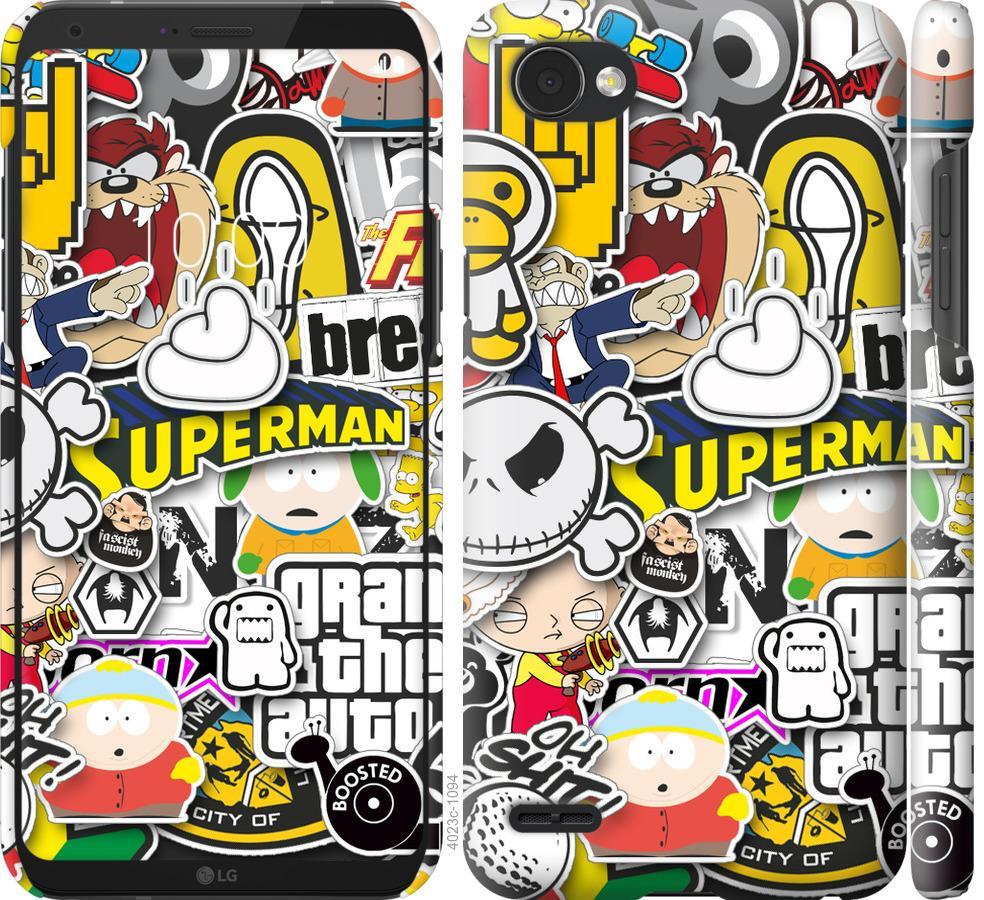Чехол на LG Q6 Popular logos