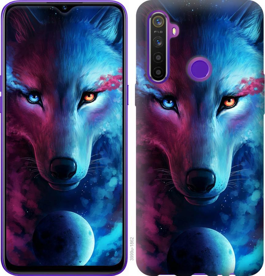 Чехол на Realme 5 Арт-волк