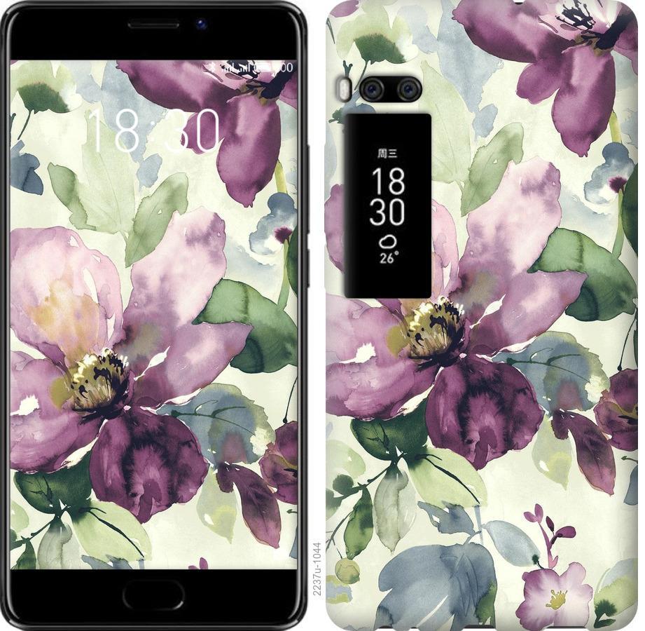 Чехол на Meizu Pro 7 Цветы акварелью