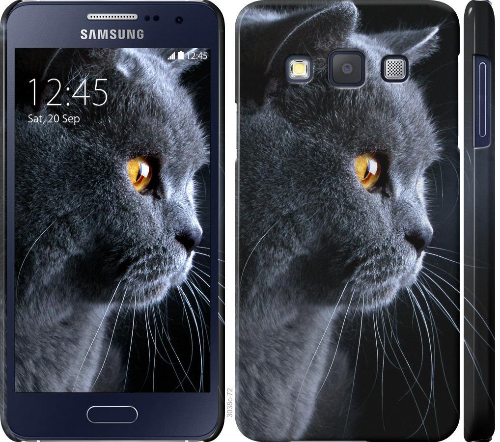 Чехол на Samsung Galaxy A3 A300H Красивый кот