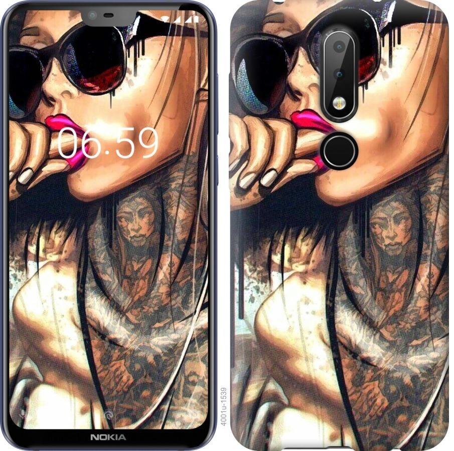 Чехол на Nokia 6.1 Plus Девушка в тату
