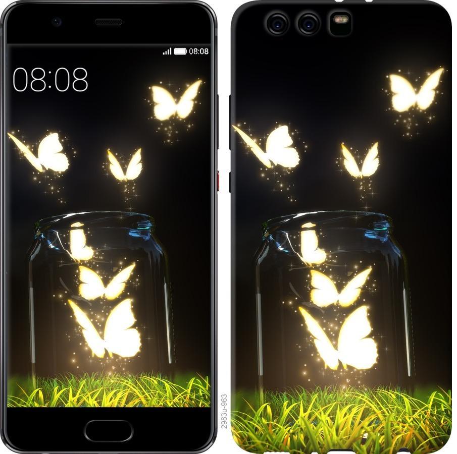 Чехол на Huawei P10 Plus Бабочки