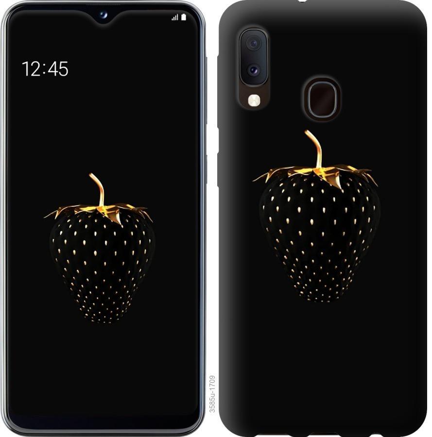 Чохол на Samsung Galaxy A20e A202F  Чорна полуниця