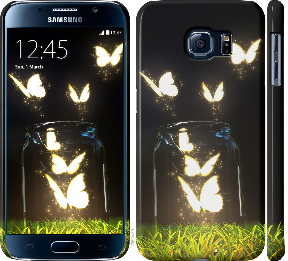 Чехол на Samsung Galaxy S6 G920 Бабочки