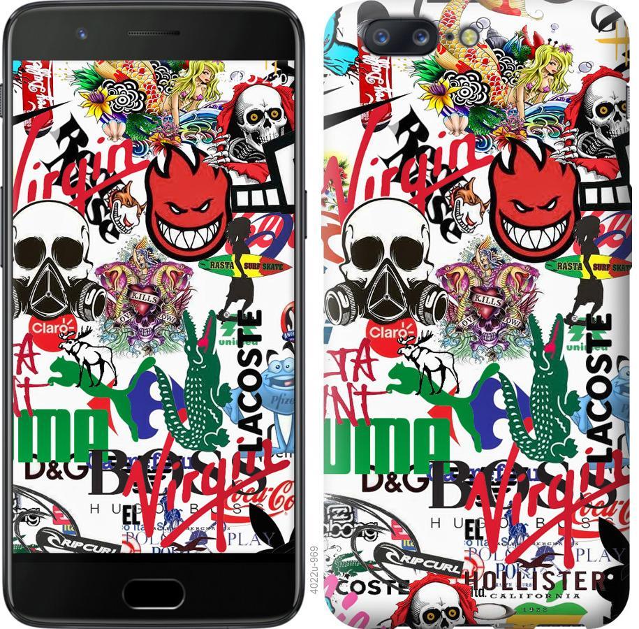 Чехол на OnePlus 5 Many different logos