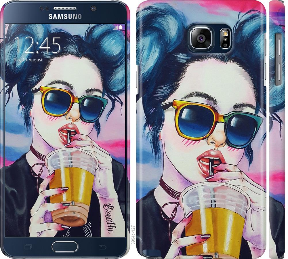Чехол на Samsung Galaxy Note 5 N920C Арт-девушка в очках