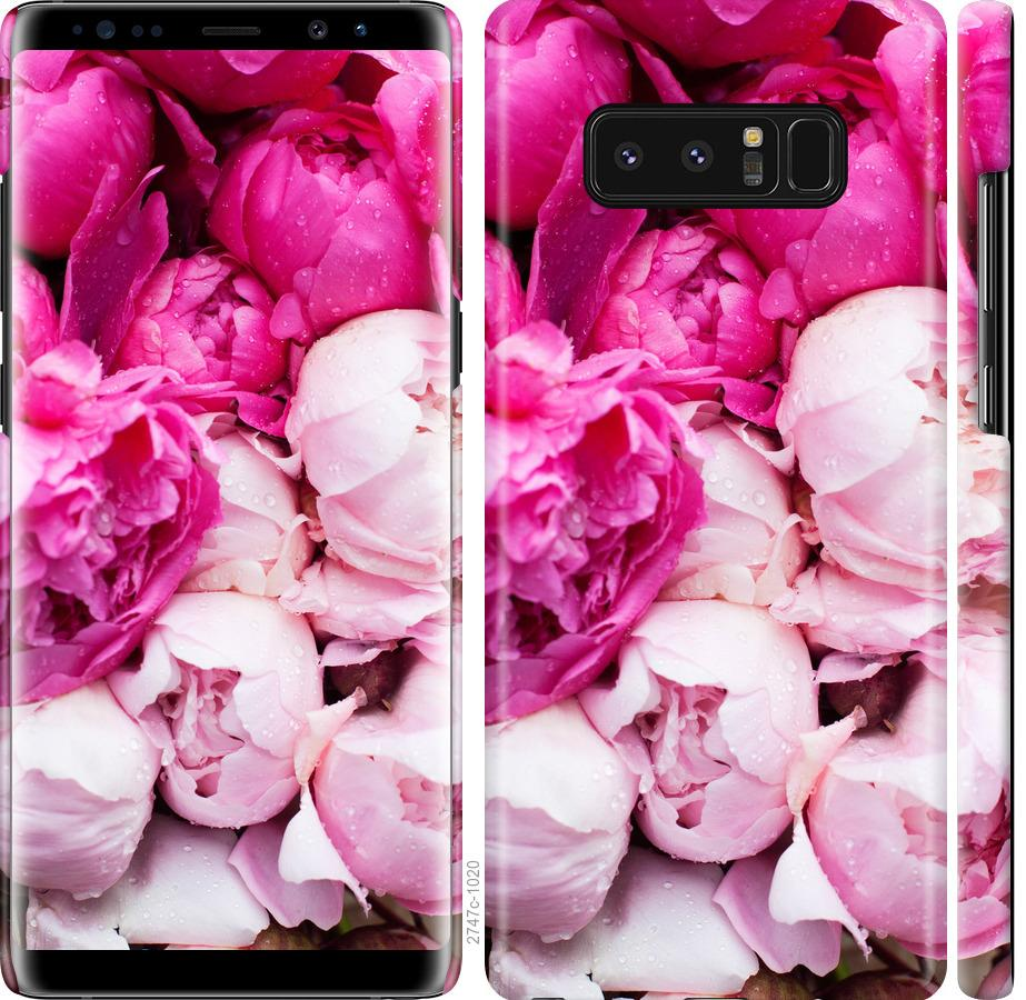 Чехол на Samsung Galaxy Note 8 Розовые пионы