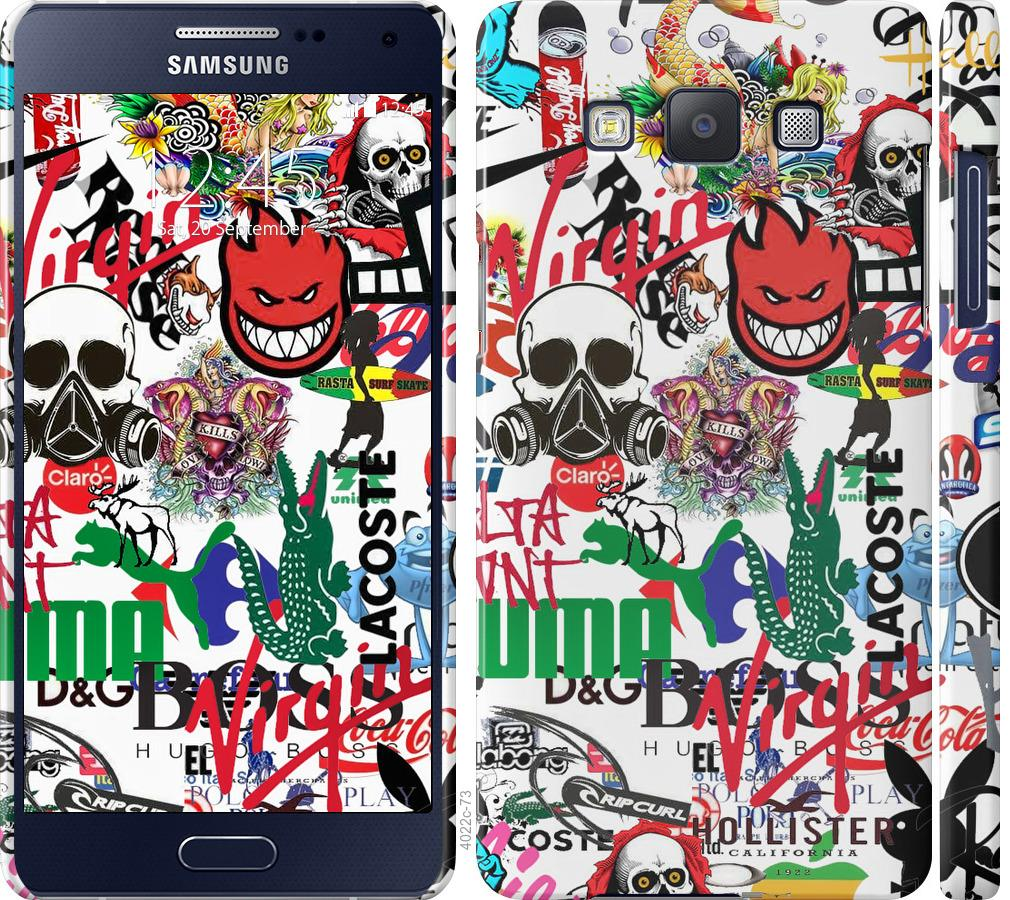 Чохол на Samsung Galaxy A5 A500H Many different logos