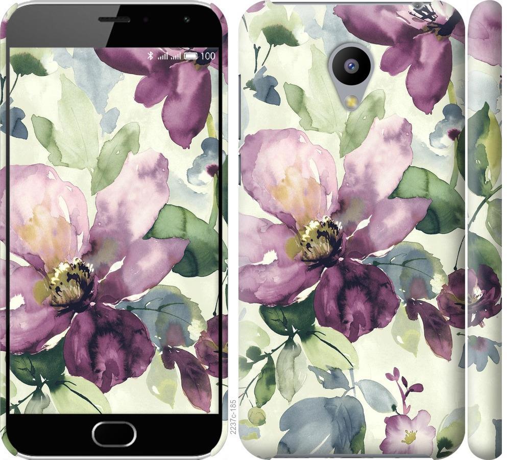 Чехол на Meizu M2 Цветы акварелью
