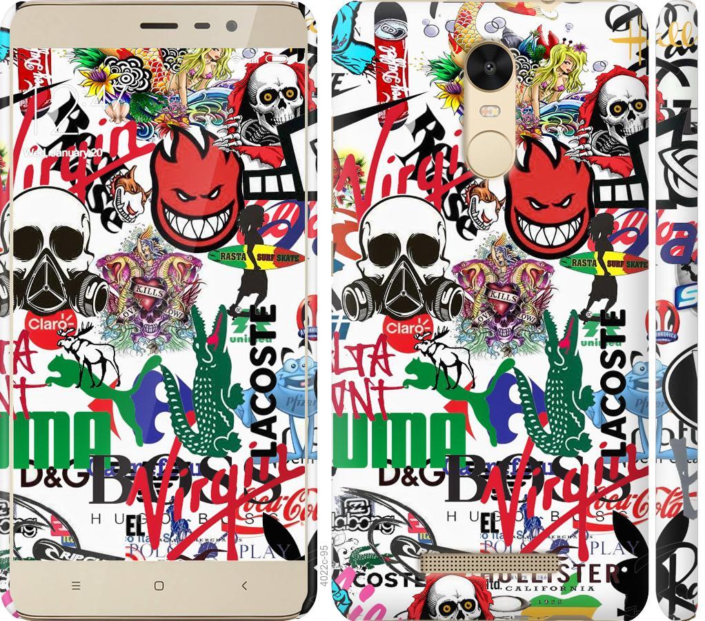 Чохол на Xiaomi Redmi Note 3 Many different logos