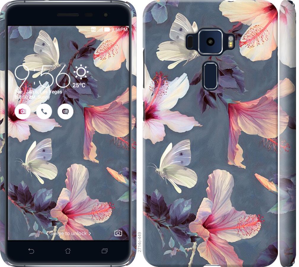 Чехол на Asus Zenfone 3 ZE520KL Нарисованные цветы