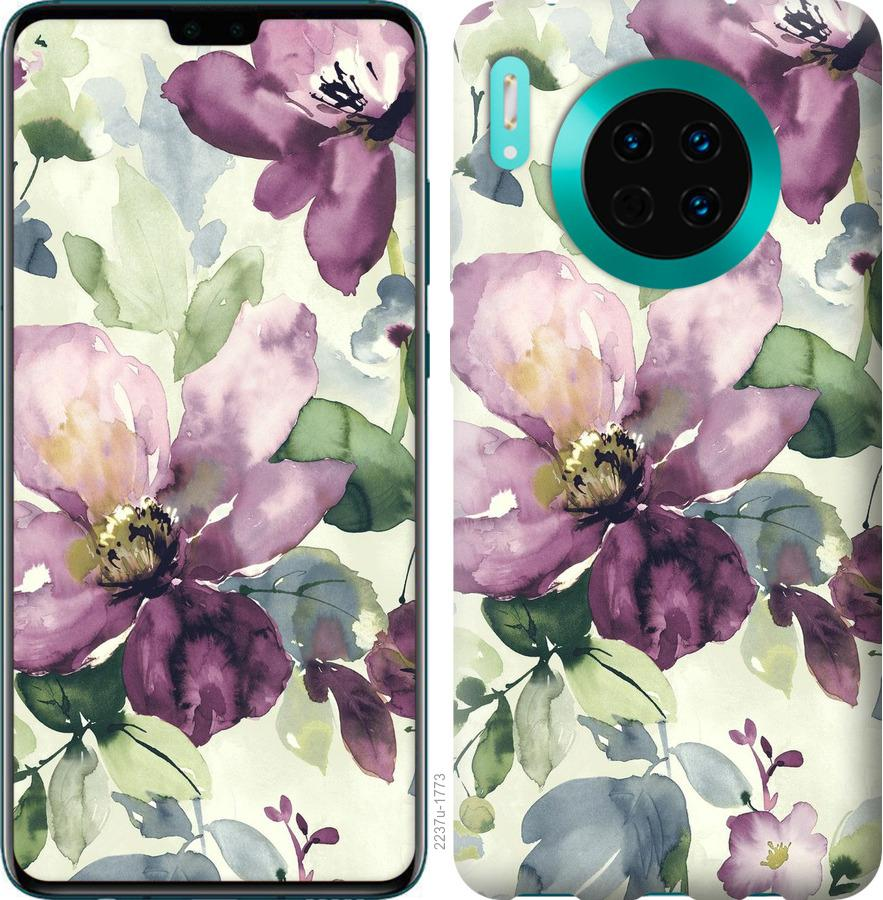 Чехол на Huawei Mate 30 Цветы акварелью