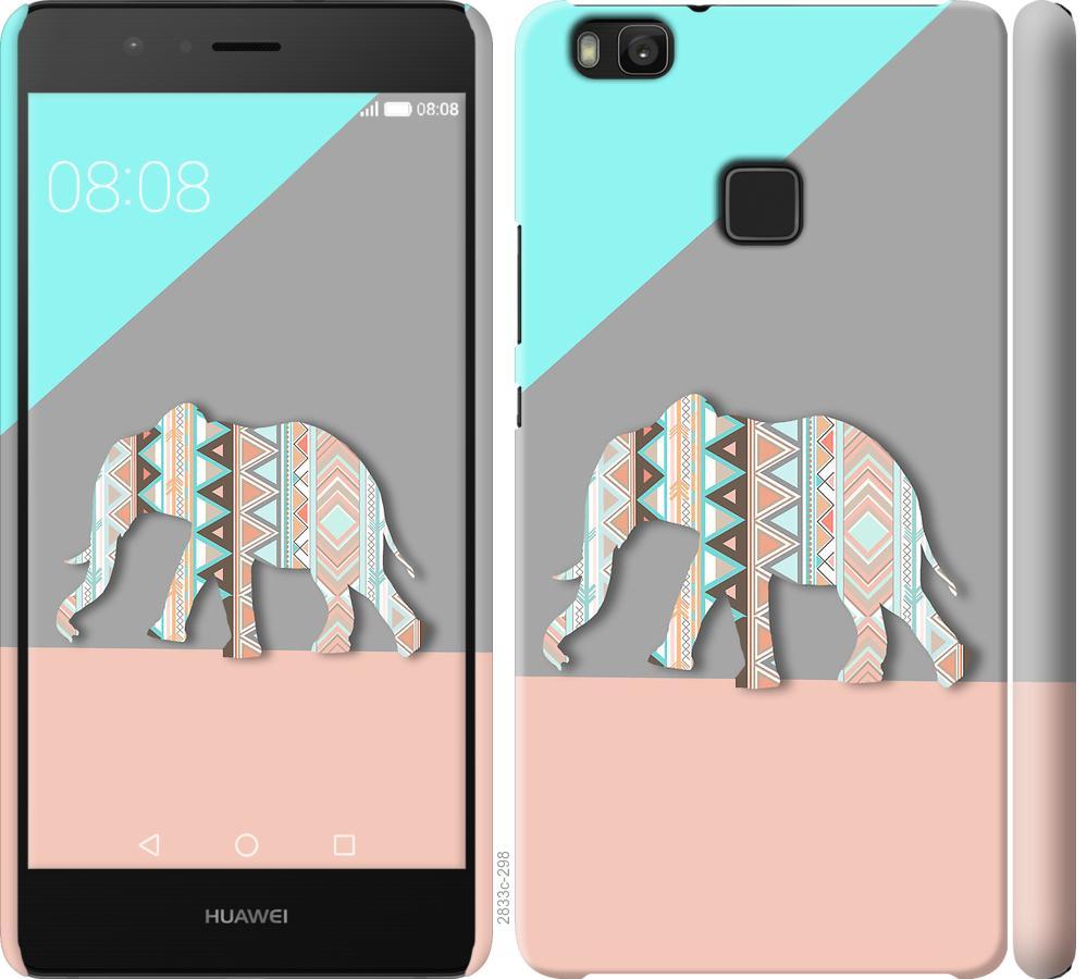 Чехол на Huawei P9 Lite Узорчатый слон
