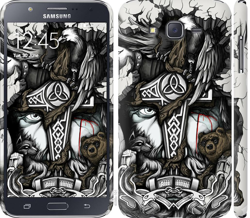 Чехол на Samsung Galaxy J7 J700H Тату Викинг