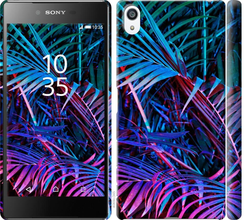 Чехол на Sony Xperia Z5 Premium E6883 Папоротник под ультрафиолетом