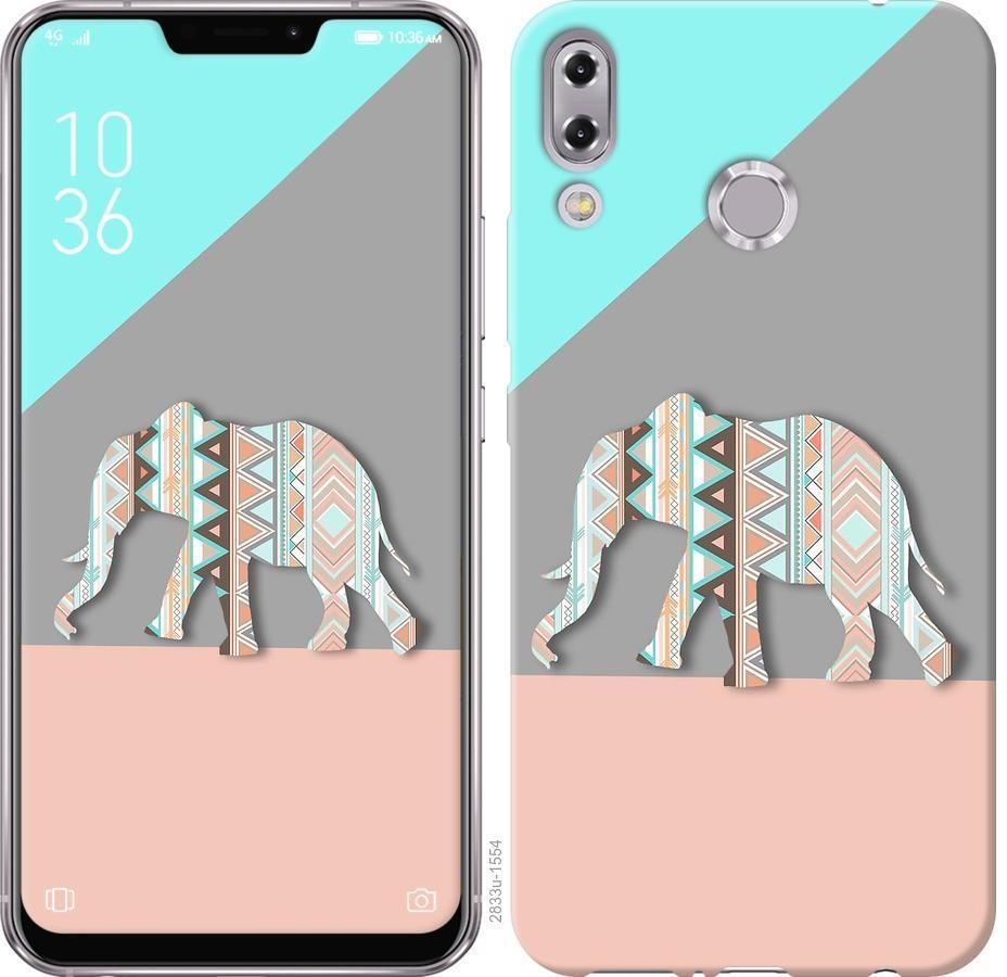 Чехол на Asus Zenfone 5 ZE620KL Узорчатый слон