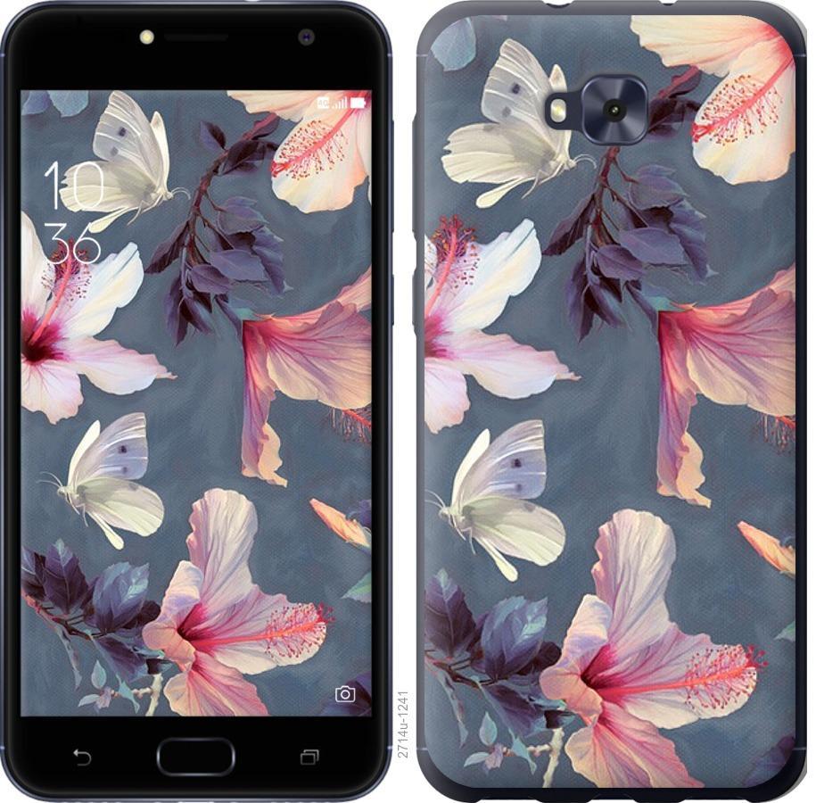 Чохол на Asus ZENFONE 4 SELFIE / ZD553KL Намальовані квіти