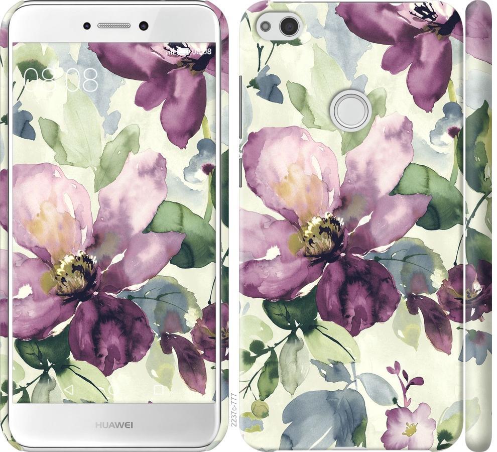 Чехол на Huawei P8 Lite (2017) Цветы акварелью