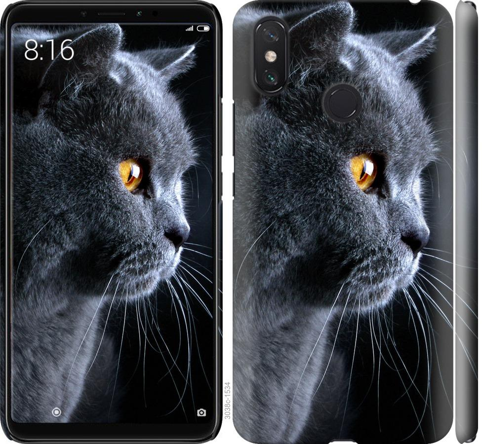 Чехол на Xiaomi Mi Max 3 Красивый кот