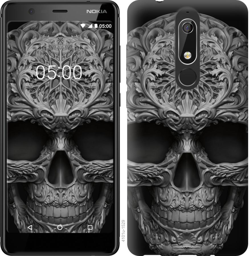 Чехол на Nokia 5.1 skull-ornament