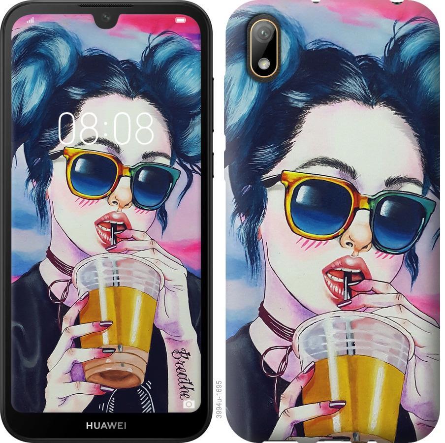 Чехол на Huawei Y5 2019 Арт-девушка в очках