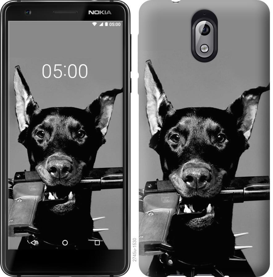 Чехол на Nokia 3.1 Доберман