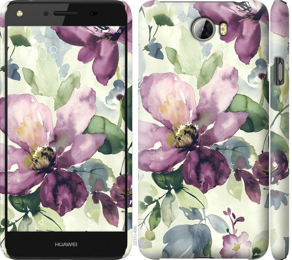Чехол на Huawei Y5 II Цветы акварелью
