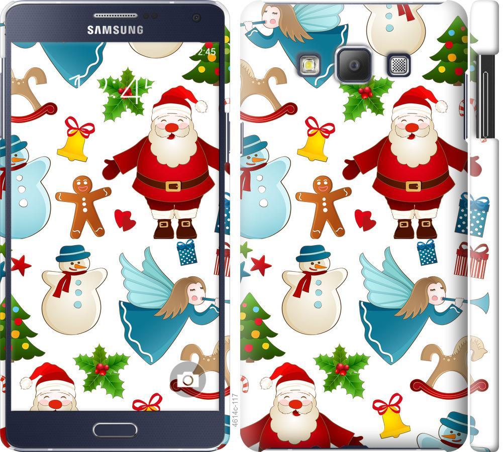 Чехол на Samsung Galaxy A7 A700H Новогодний 1