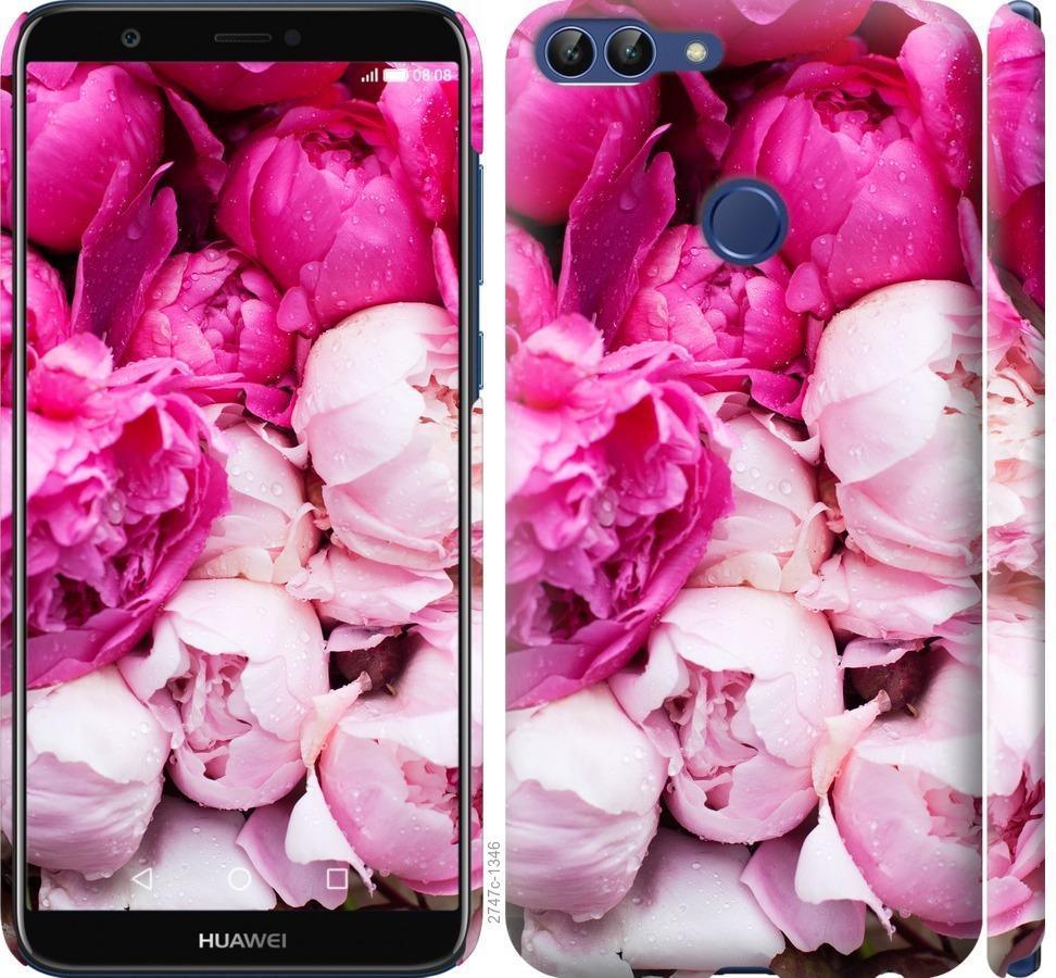 Чехол на Huawei P Smart Розовые пионы