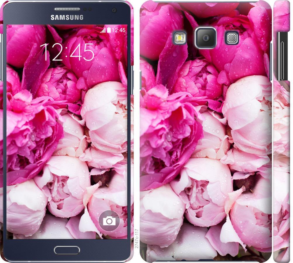 Чехол на Samsung Galaxy A7 A700H Розовые пионы