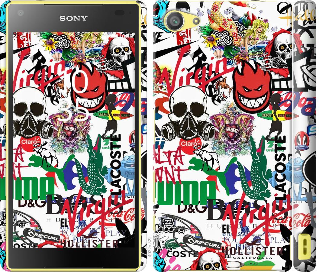 Чехол на Sony Xperia Z5 Compact E5823 Many different logos