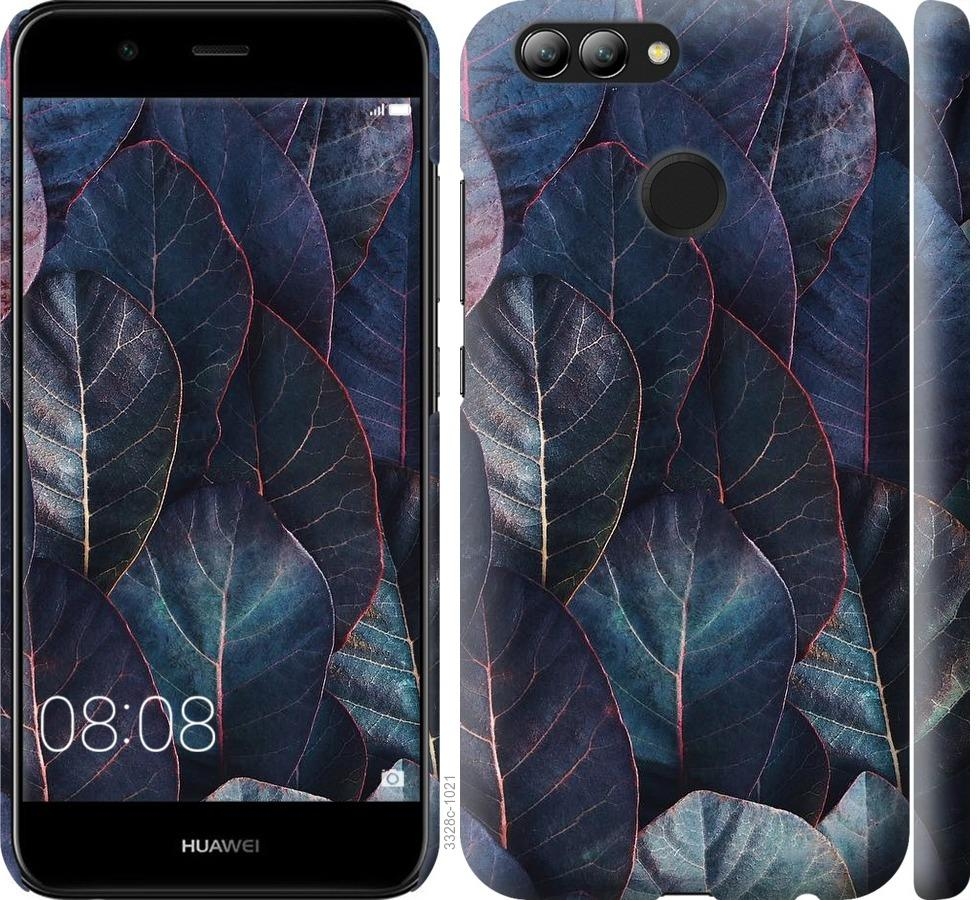 Чехол на Huawei Nova 2 Листья v3