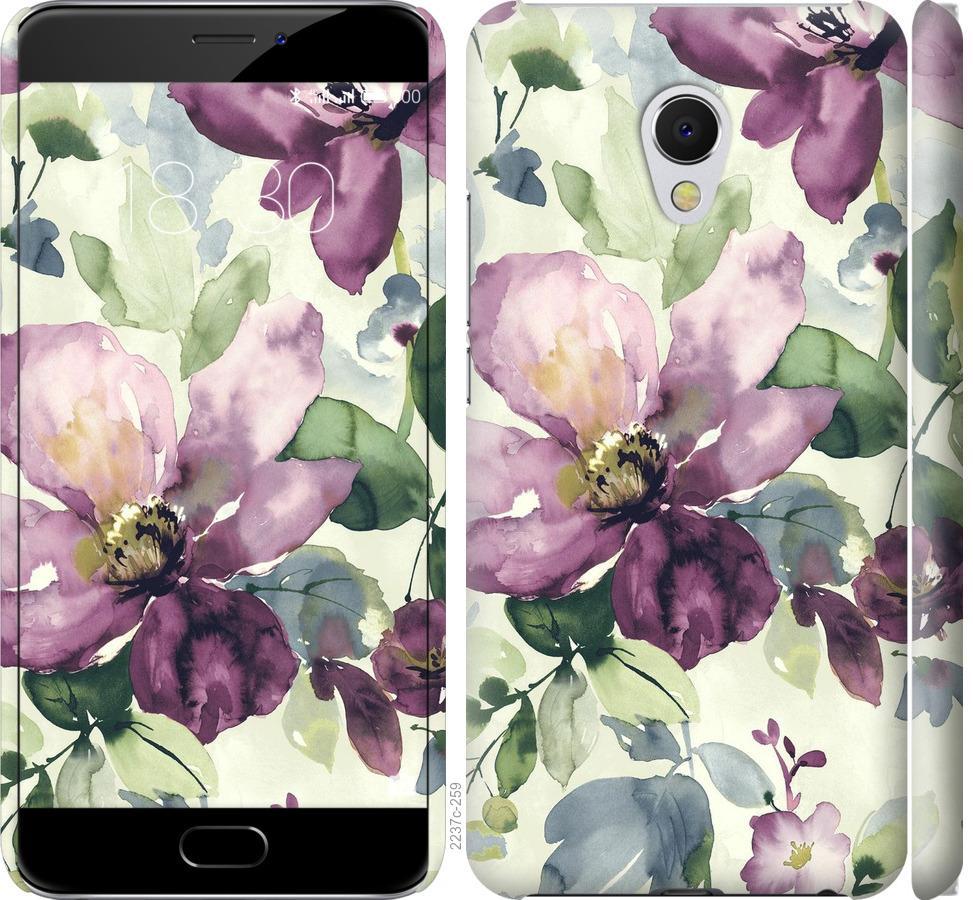 Чехол на Meizu MX6 Цветы акварелью