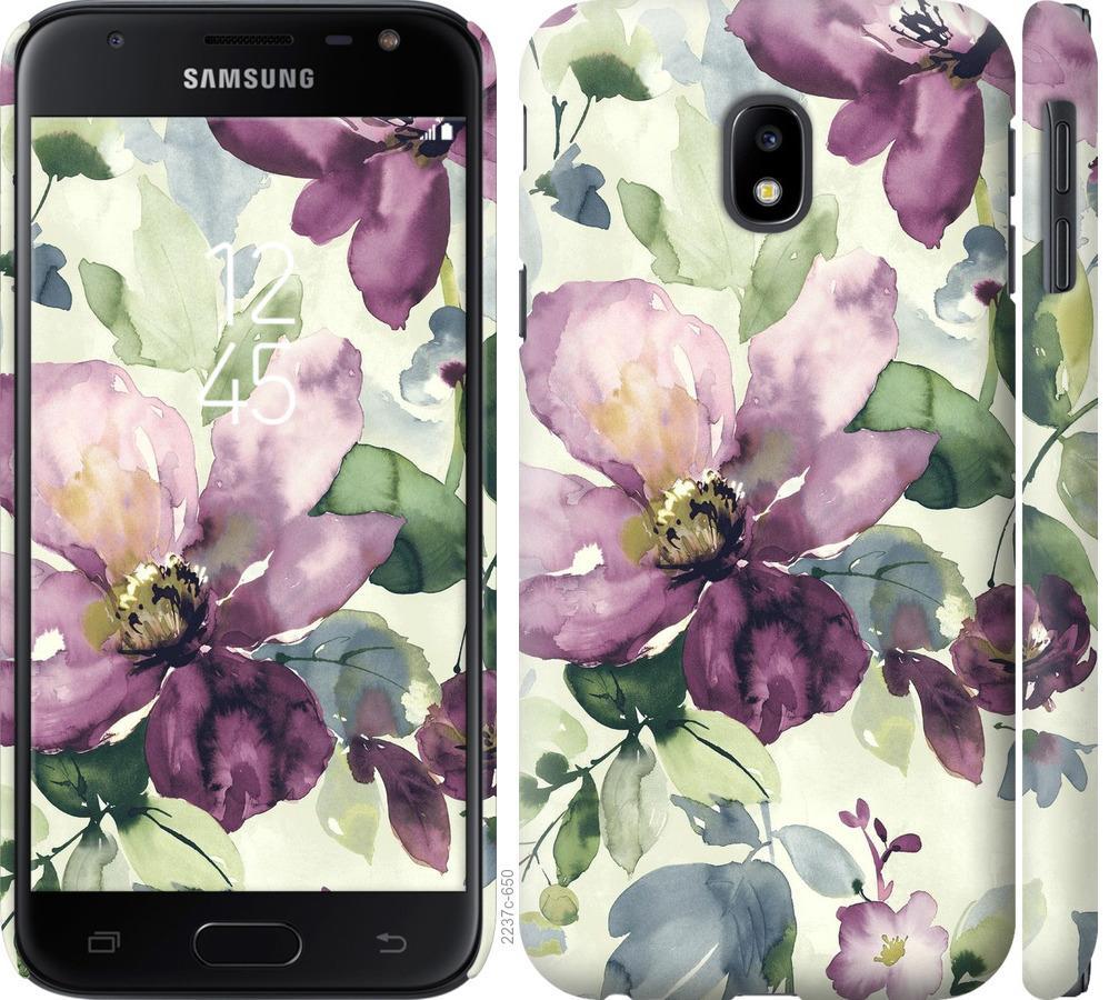 Чохол на Samsung Galaxy J3 (2017) Квіти аквареллю