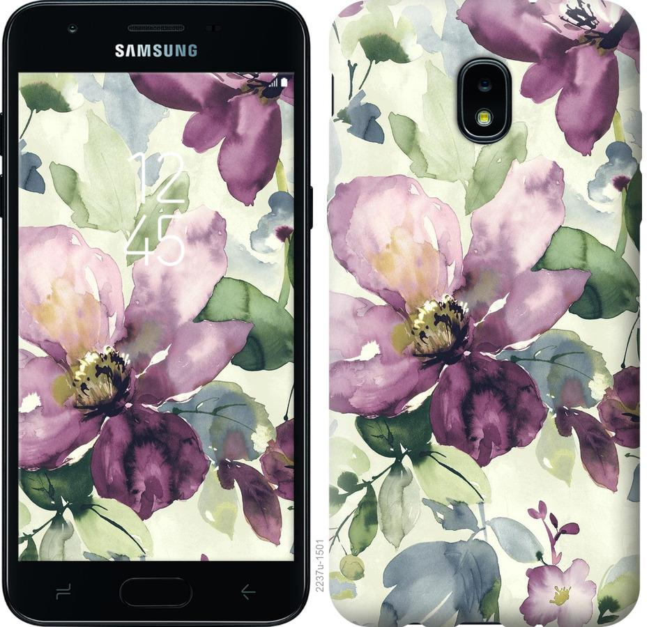 Чохол на Samsung Galaxy J3 2018 Квіти аквареллю