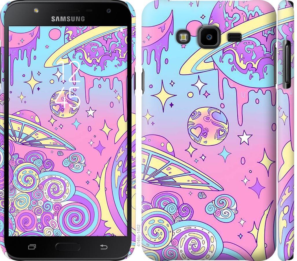 Чехол на Samsung Galaxy J7 Neo J701F Розовая галактика
