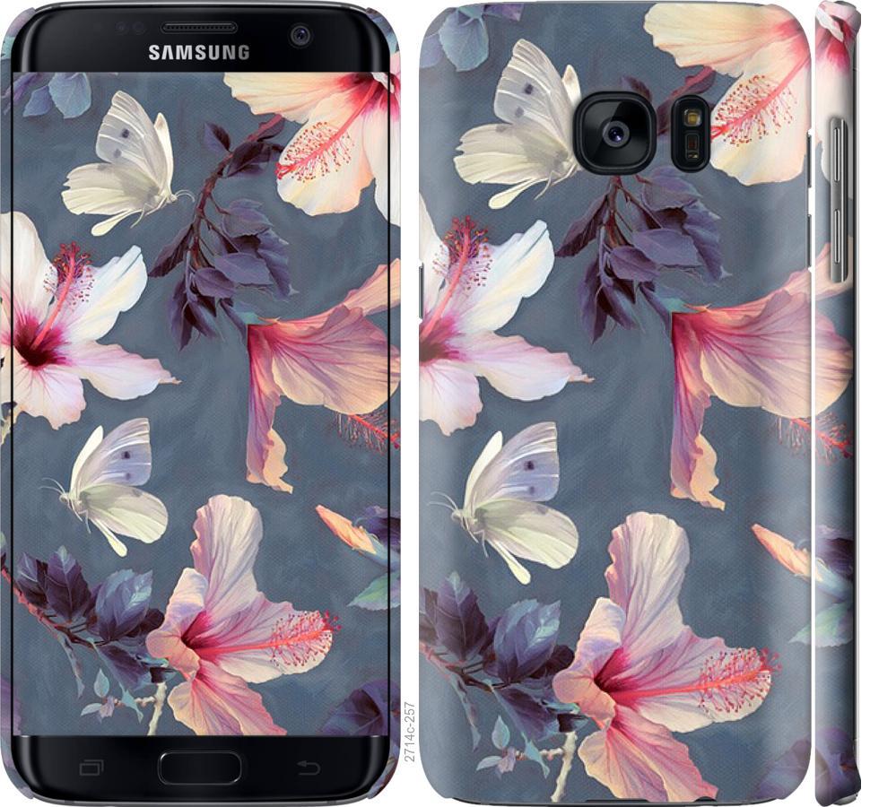 Чехол на Samsung Galaxy S7 Edge G935F Нарисованные цветы