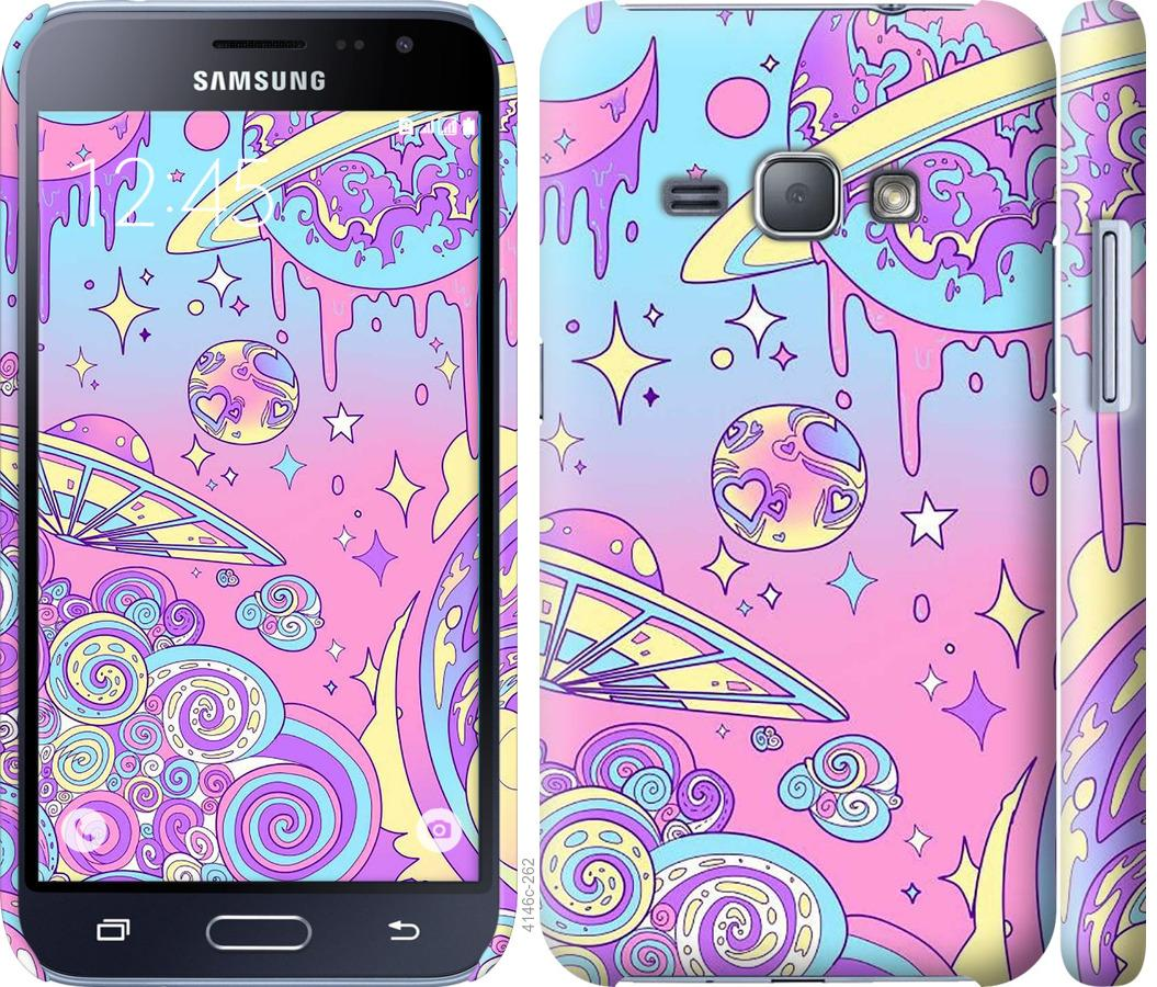 Чехол на Samsung Galaxy J1 (2016) Duos J120H Розовая галактика